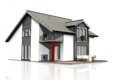 Einfamilienhaus mit OlyJet Luftwärmepumpe